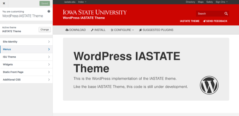 Mega Menus • WordPress IASTATE Theme • Iowa State University